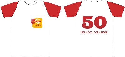 """T-Shirt 50 anni """"Piccolo Coro"""""""